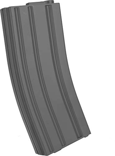 Evike 6mmProShop 140rd Midcap Magazine for M4 M16 Series Airsoft AEG Rifles (Color: Grey/Single Magazine) (M16 Series Magazine)
