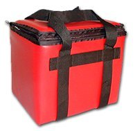 TCB Insulated Bags BC-12-Red Insulated Cooler Beach Club Bag, Holds 12 Cans, 9'' x 12'' x 10'', Red by TCB Insulated Bags