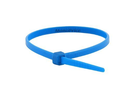 Monoprice Cable Tie 4 inch 18LBS, Blue