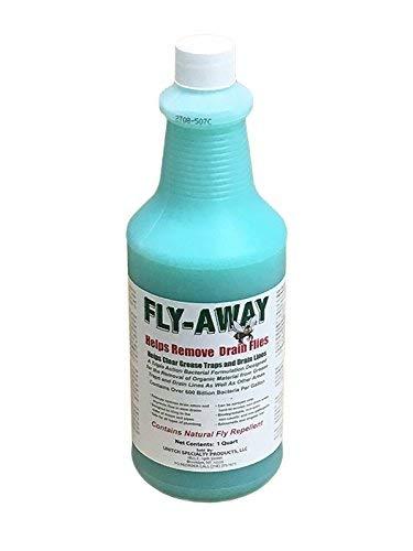 FLY-AWAY Drain Fly Treatment & Drain Opener, Drain Fly Repellent, Fruit Fly Repellent, Fruit Flies Treatment, Drain Fly & Fruit Fly Eliminator, DISSOLVES Drain Grease