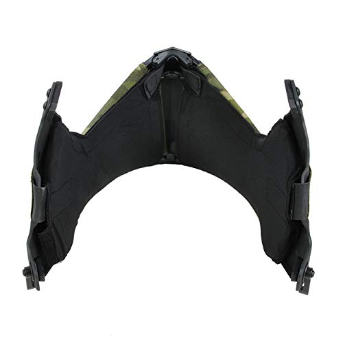 WOLFBSUH WOLFBUSH Tactical Half Face Mask, Airsoft Mask Mandible Guide Rail Half Face Mask for Tactical OC Highcut Helmet by WOLFBSUH