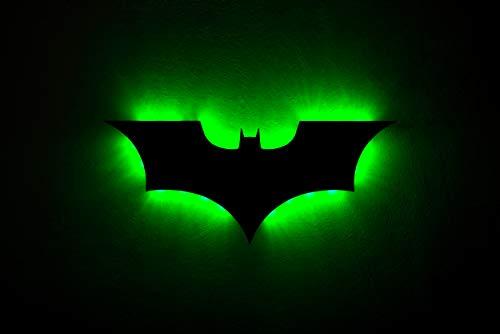 QJSY Luz LED de pared con control remoto Batman colorido proyeccion luz nocturna para dormitorio KTV pasillo fondo decoracion iluminacion de pared (USB)