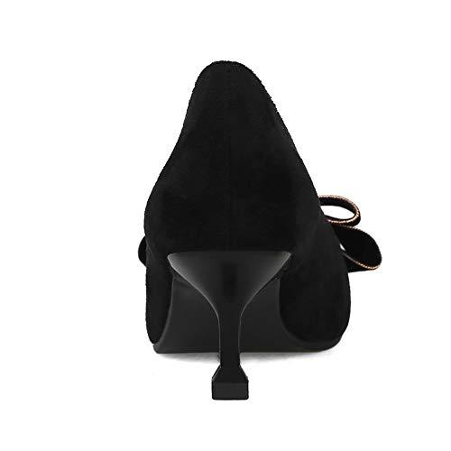 DGU00682 Femme Sandales Noir AN Compensées 7wxUqOU