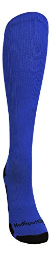 MadSportsStuff Royal/White Player Id Over The Calf Number Socks (#47, Large) by MadSportsStuff (Image #1)