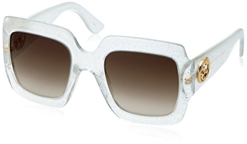 Sunglasses Gucci GG 0053 S- 004 004 SILVER / BROWN / - Gucci Case Sunglasses