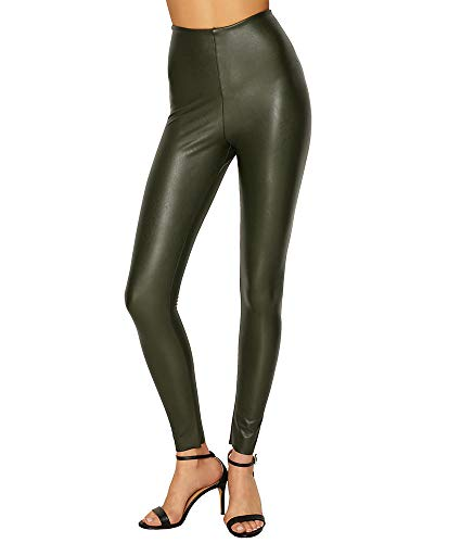 - commando Women's Perfect Control Faux Leather Leggings, Pine, X-Large
