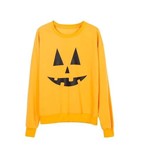 Women Halloween Shirt Funny Pumpkin Costume Long Sleeve