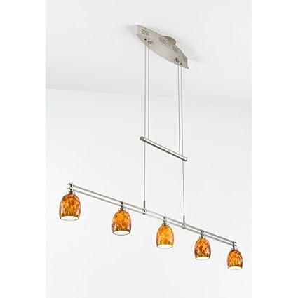 Holtkoetter 5515 sn g5020 halogen low voltage contemporary chandelier satin nickel with sunset glass