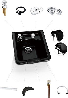 Premium ABS Plastic Shampoo Bowl Sink Beauty Salon Spa Eq...