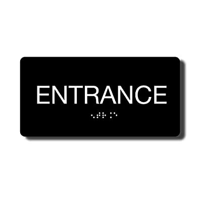 ADA Compliant Exit Sign with Braille