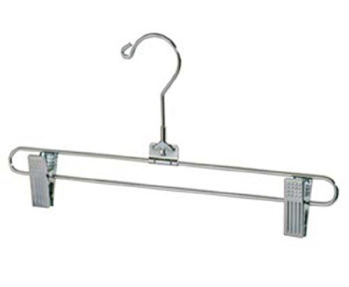 Only Hangers Salesman Skirt Hanger Pant Hanger -Chrome Finish - Swivel Neck 12'' Lot of 100 by Only Hangers