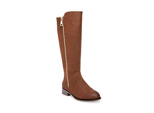 Steve Madden Womens Rhapsody Leather Closed Toe Knee High, Brown, Size 11.0