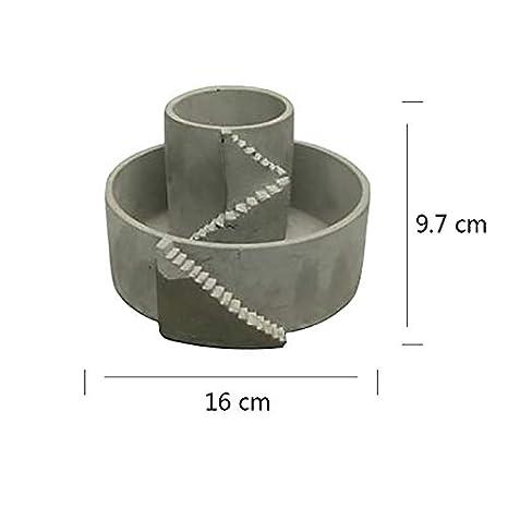 Molde de silicona para hormigón Nicole Flowerpot, forma circular creativa hecha a mano, molde para maceta de cemento: Amazon.es: Juguetes y juegos