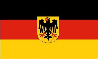 German State Flag - Old Germany Flag with Eagle, 3 x 5 Feet