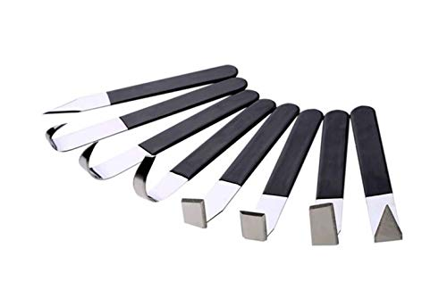 8 Pack Pottery Tools, HityTech Stainless Steel Carving Shaping Knives Clay Sculpture Hand Tools Craft Trimming Artist Ceramic Tools Set for Carving, Shaping, Clay Sculpture, Modeling