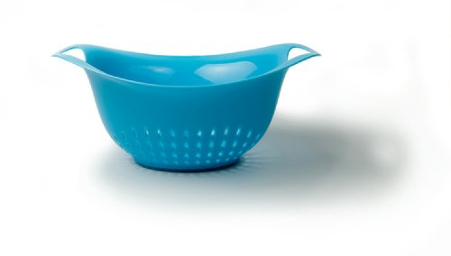 Safe Colander Dishwasher Plastic (Architec Prep Colander, 4 Qt, Blue, Dishwasher Safe BPA-free Plastic, Patented Non-slip Gripper Feet)