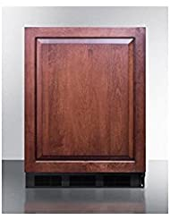 Summit FF63BBIIF Refrigerator, Brown