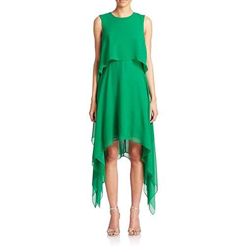 BCBG Maxazria Marilee Tired Green Silk ()