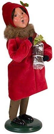 Byers Choice Victorian Girl w Santa 113G