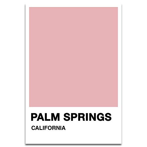 Visionary Prints Palm Springs Color Swatch - Modern World and Cities Art Print. California Poster Print. Orange, 13