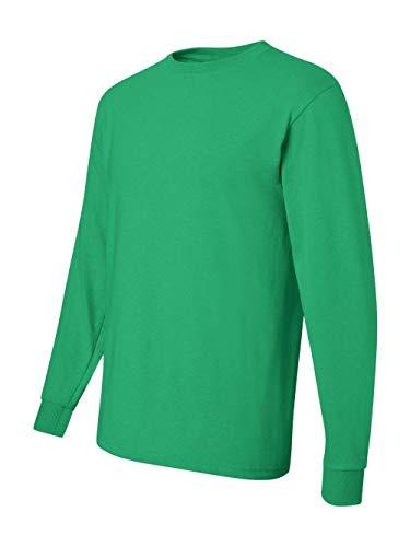 Jerzees Men's Heavyweight Blend 50/50 Long Sleeve T-Shirt (Kelly, Medium)