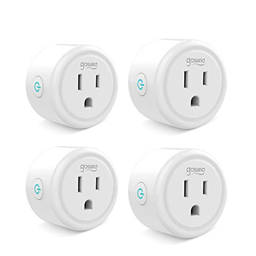 Smart Plug WiFi Outlet Works with Amazon Alexa Google Home IFTTT, No Hub Required, ETL and FCC Listed, Remote Control Your Devices from Anywhere by Gosund(4 Pack)