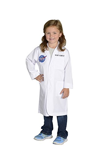 Aeromax Jr. NASA Rocket Scientist Lab Coat, White, Size 8/10 ()