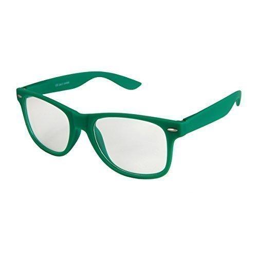 goma Unisex 101 de a Gafas Gafas Modelos calidad varios Nerd de Retro con Oscuro De estera Sol Verde Transparente muelle Bisagra De Vintage colores Alta elegir C8qfx