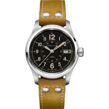 Hamilton Men's H70595593 Khaki Field Analog Display Swiss Automatic Brown Watch (Hamilton Khaki Field Automatic)
