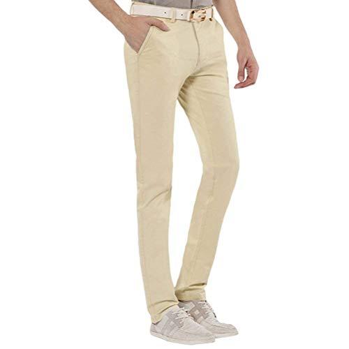Para Casuales Rectos Slim Brown Hombres De Pantalones Color El Negocios Oficina Fit Trabajo Sólido Anti Arrugas Ropa Hogar wXgqpS4