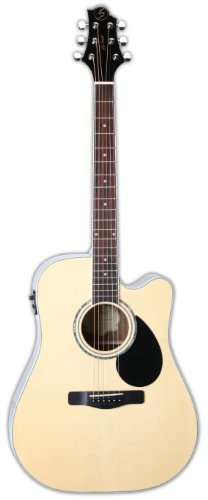 Samick Music G Series 100 GD100RSCE Dreadnought Acoustic-Electric Guitar, Natural