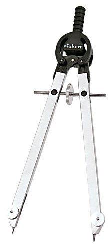 Chartpak Masterbow Compass, 10'''' Maximum Diameter, Steel, Chrome