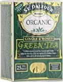 St Dalfour Ginger and Honey Green Tea (25 Individually Wrapped Tea Bags) by stendhal
