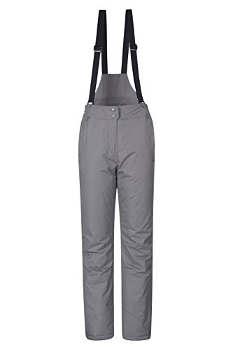 Mountain Warehouse Moon Womens Ski Pants - Warm Bib Snow Trousers Grey 8