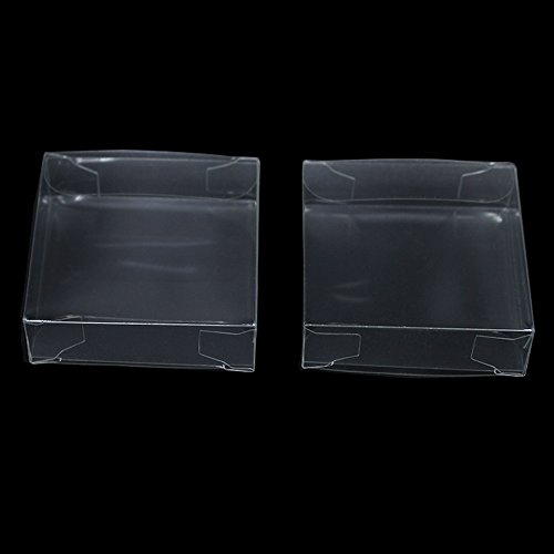 Multiple Usage Clear Plastic Retail PVC Packaging Boxes for Wedding Party Birthday Favor Transparent Cube Jewellery Decorative Accessories Take Out Container (100, 2.0x2.0x0.6 inch(5x5x1.5 cm)) ()