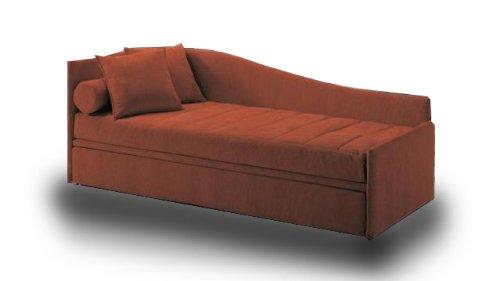 Ponti divani sun letto singolo con letto estraibile ecopelle rete a doghe larghe e materasso - Divani letto con doghe ...