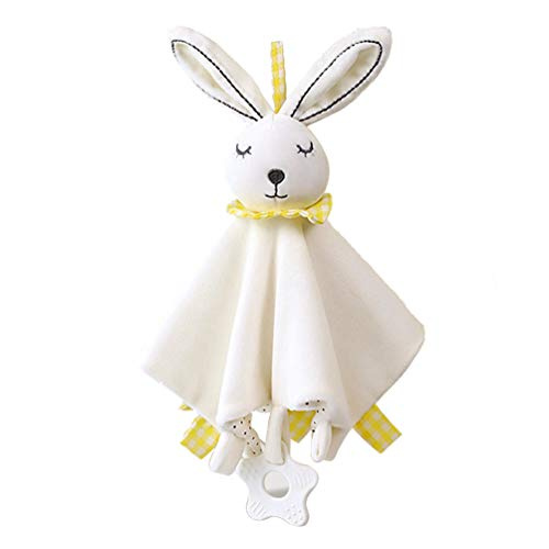 Cute Soothing Towel, Multipurpose Baby Teething Cloths Towel Toys Sleep Friend Doll Toys Bunny