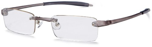 Visualites 201 Reading Glasses,Smoke Frame/Clear Lens,3.00 Strength,48 mm