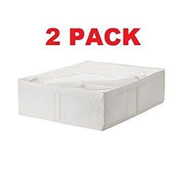 Ikea Storage Underbed Box Closet Zippered (2 Pack) White by IKEA