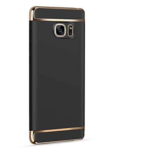 Sophili Galaxy Note 5 case, [3 in 1 Series] Anti-Scratch Shockproof Electroplate Protective Hard Case Compatible for Galaxy Note 5 - Black