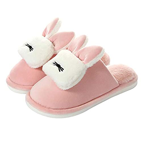 discount Womens Cute Warm Bunny Slippers Indoor Home Cozy Fuzzy Slipper get discount