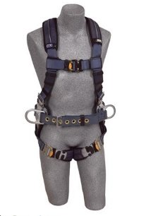 DBI/Sala 1110151 ExoFit XP Construction Vest-Style Full Body Harness, Gray, Medium -