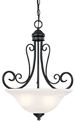 Hardware House Tuscany Fixture, Textured Black
