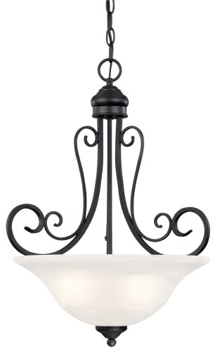 Hardware House 544890 Tuscany Chandelier, 18.5 x 23 , Textured Black