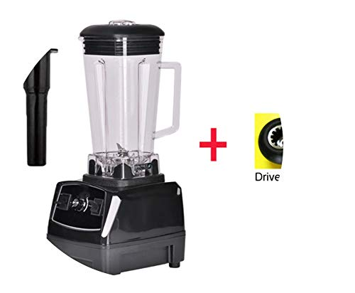 3Hp 2200W Heavy Duty Commercial Grade Blender Mixer Juicer High Power Food Processor Ice Smoothie Bar Fruit Blender,Black Extra Driver,Eu Plug
