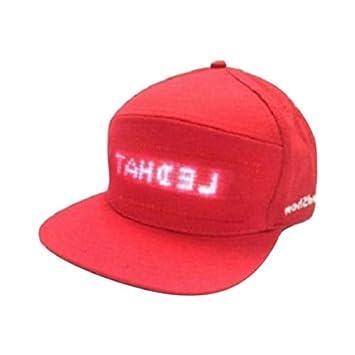 Mooyod - Gorra de béisbol Impermeable con Pantalla LED, Rojo ...