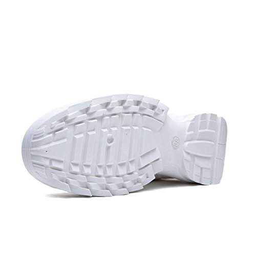 Lucida Sneakers Lacci da Ginnastica Stringate h811 Eco Scarpe Bianco para Donna MForshop Pelle qB4Cn0wH