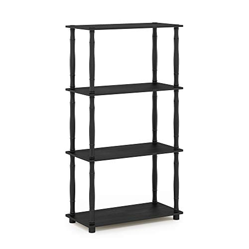 Save on Furinno Turn-N 4-Tier Multipurpose Shelf Display Rack with Classic Tubes, Americano/Black and more