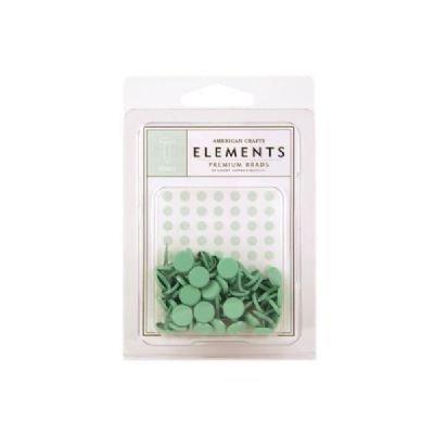 American Crafts Elements Medium Brads, Shamrock (American Crafts Elements Brads)