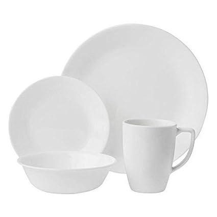Corelle Livingware 16-Piece Dinnerware Set Winter Frost White Service for 4 [  sc 1 st  Amazon.com & Amazon.com | Corelle Livingware 16-Piece Dinnerware Set Winter ...